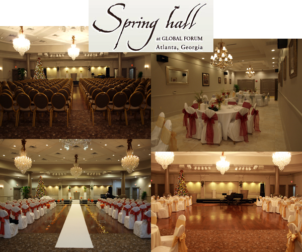 Atlanta venues rentals atlanta venues organizer atlanta wedding venues spring hall venue at global forum junglespirit Image collections